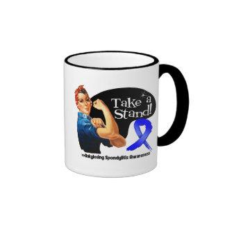 Ankylosing Spondylitis Awareness Take a Stand Ringer Mug