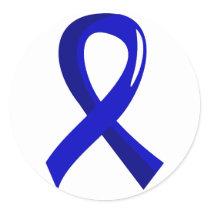 Ankylosing Spondylitis Blue Ribbon 3 Classic Round Sticker