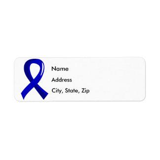 Ankylosing Spondylitis Blue Ribbon 3 Return Address Label
