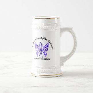 Ankylosing Spondylitis Butterfly 6.1 18 Oz Beer Stein