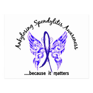 Ankylosing Spondylitis Butterfly 6.1 Postcard