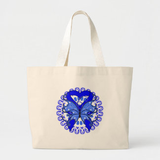 Ankylosing Spondylitis Butterfly Circle of Ribbons Tote Bags