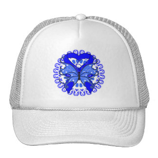 Ankylosing Spondylitis Butterfly Circle of Ribbons Trucker Hat