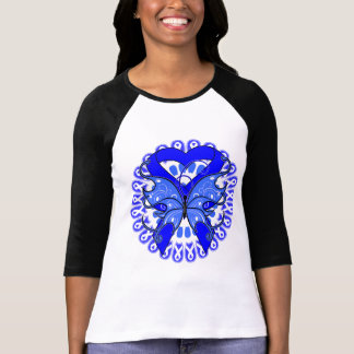 Ankylosing Spondylitis Butterfly Circle of Ribbons Tee Shirts