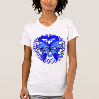 Ankylosing Spondylitis Butterfly Circle of Ribbons T Shirt