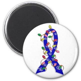 Ankylosing Spondylitis Christmas Lights Ribbon 2 Inch Round Magnet