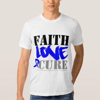 Ankylosing Spondylitis Faith Love Cure Tshirts