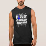 Ankylosing Spondylitis Fight Conquer and Win Sleeveless T-shirt