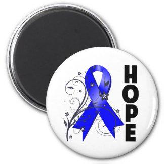 Ankylosing Spondylitis Floral Hope Ribbon 2 Inch Round Magnet