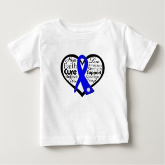 Ankylosing Spondylitis Heart Ribbon Collage Tshirts