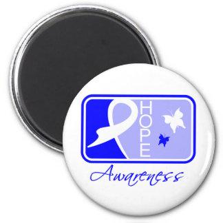 Ankylosing Spondylitis Hope Awareness Tile 2 Inch Round Magnet