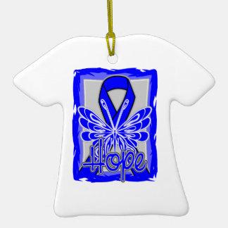 Ankylosing Spondylitis Hope Butterfly Christmas Ornament