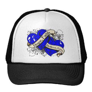 Ankylosing Spondylitis Hope Faith Dual Hearts Hat