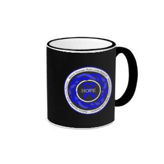Ankylosing Spondylitis Hope Intertwined Ribbon Ringer Coffee Mug