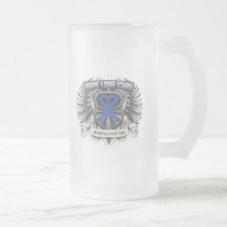 Ankylosing Spondylitis Hope Love Cure 16 Oz Frosted Glass Beer Mug