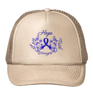Ankylosing Spondylitis Hope Motto Butterfly Hat