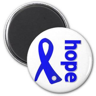 Ankylosing Spondylitis Hope Ribbon 2 Inch Round Magnet