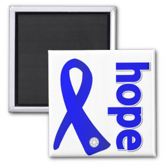Ankylosing Spondylitis Hope Ribbon 2 Inch Square Magnet
