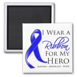 Ankylosing Spondylitis I Wear a Ribbon For My Hero 2 Inch Square Magnet