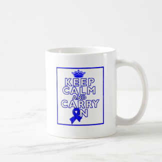 Ankylosing Spondylitis Keep Calm and Carry ON Classic White Coffee Mug
