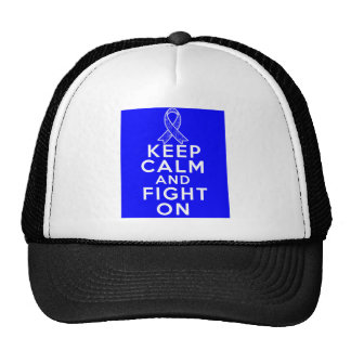 Ankylosing Spondylitis Keep Calm and Fight On Trucker Hats