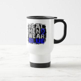 Ankylosing Spondylitis Real Men Wear Blue Travel Mug