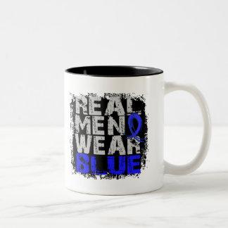 Ankylosing Spondylitis Real Men Wear Blue Two-Tone Coffee Mug