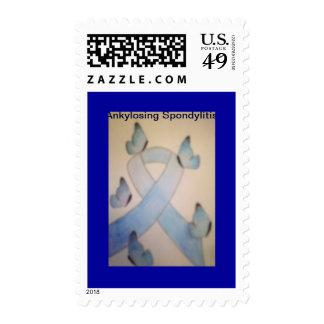 Ankylosing Spondylitis Ribbon Postage Stamp