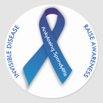 Ankylosing Spondylitis ROUND Sticker Awareness