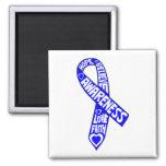 Ankylosing Spondylitis Slogans Ribbon Fridge Magnets