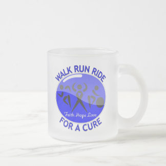 Ankylosing Spondylitis Walk Run Ride For A Cure 10 Oz Frosted Glass Coffee Mug