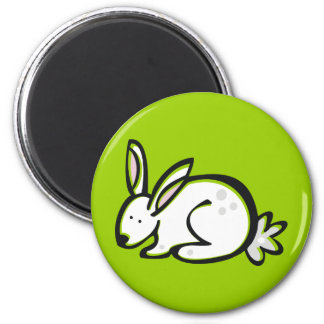 Anml009 RABBIT BUNNY CARTOON DOODLE PETS CUTE 2 Inch Round Magnet