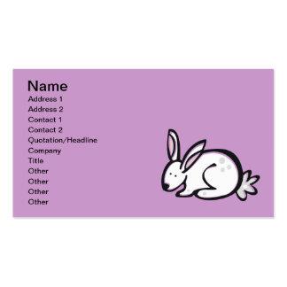 Anml009 RABBIT BUNNY CARTOON DOODLE PETS CUTE Business Card