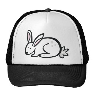 Anml009 RABBIT BUNNY CARTOON DOODLE PETS CUTE Trucker Hat