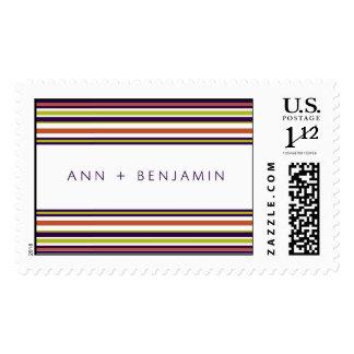 Ann and Benjamin stripe Postage
