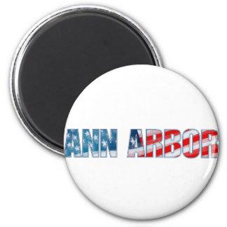 Ann Arbor 2 Inch Round Magnet