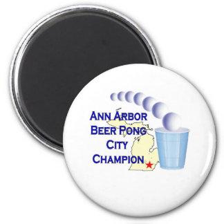 Ann Arbor Beer Pong Champion Magnet