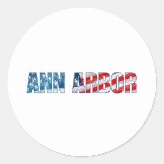 Ann Arbor Classic Round Sticker