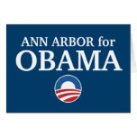 ANN ARBOR for Obama custom your city personalized Greeting Card