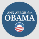 ANN ARBOR for Obama custom your city personalized Round Sticker