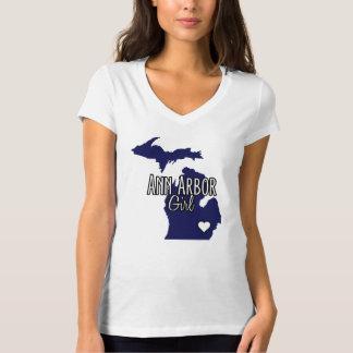Ann Arbor Girl Navy Tee Shirt