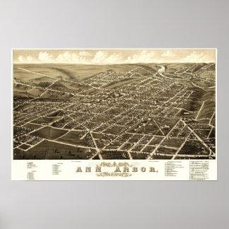 Ann Arbor, Michigan 1880 Poster