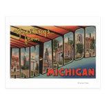 Ann Arbor, Michigan - escenas grandes de la letra Tarjeta Postal