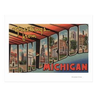 Ann Arbor, Michigan - escenas grandes de la letra Tarjetas Postales