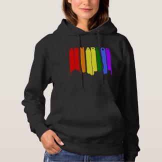 Ann Arbor Michigan Gay Pride Rainbow Skyline Hoodie