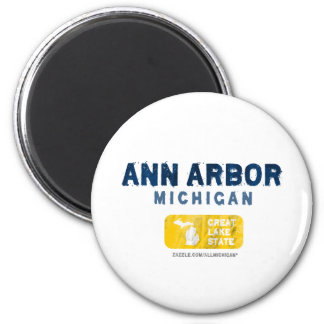 Ann Arbor Michigan Great Lake State Magnet