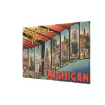 Ann Arbor, Michigan - Large Letter Scenes Canvas Prints