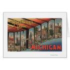 Ann Arbor, Michigan - Large Letter Scenes Card