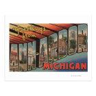 Ann Arbor, Michigan - Large Letter Scenes Postcard