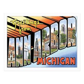 Ann Arbor Michigan Travel America US City Postcard
